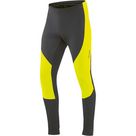 Gonso Montana Hip Pantaloni Softshell Imbottitura Uomo, black/safety yellow